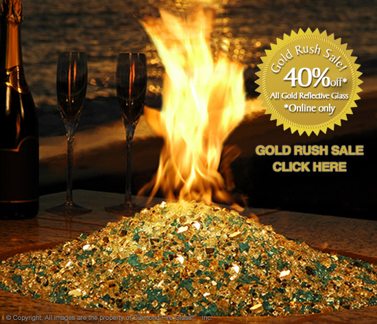 Gold Rush Sale at Diamond Fire Pit Glass