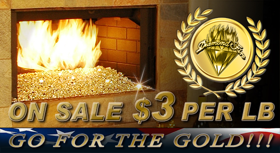 Gold Fire Pit Glass Sale