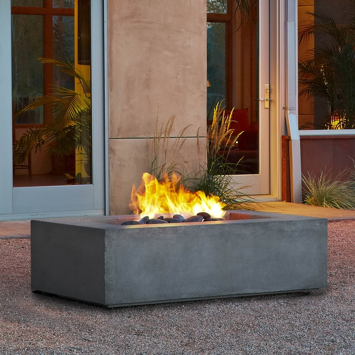 Baltic Rectangle Natural Gas Fire Table