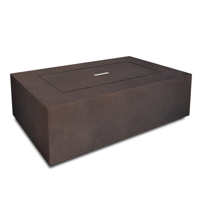 Baltic rectangle propane fire table for Concreteworks fire table