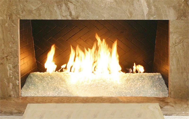 Alpine White Diamond Fire Pit Glass - 60 LB Nugget Package