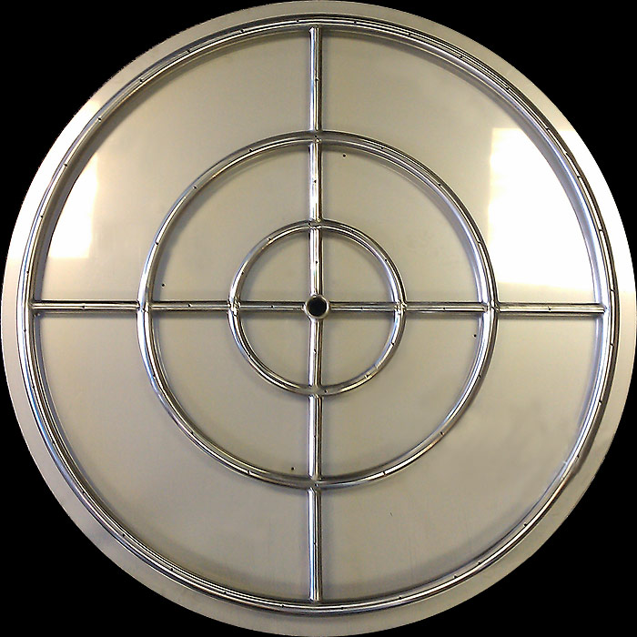 """Stainless Steel 30"""" Fire Pit Ring with 32"""" Flat Pan (High ..."""