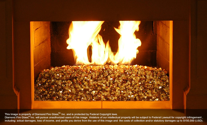 Tuscan Reserve Diamond Fire Pit Glass 1 Lb Crystal