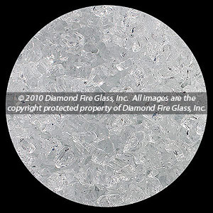 Alpine Crystal Diamond Fire Pit Glass - 25 LB Crystal Package