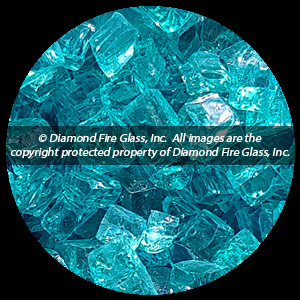 Bahama Blue Diamond Fire Pit Glass - 25 LB Nugget Package