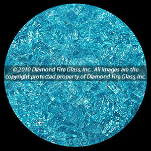 Bahama Blue Diamond Fire Pit Glass - 25 LB Crystal Package