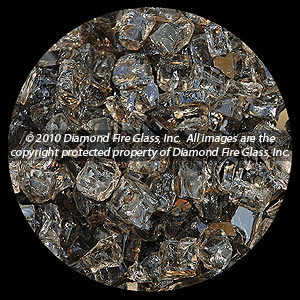 Bronze Diamond Fire Pit Glass - 25 LB Nugget Package