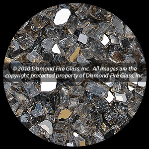Bronze Reflective Diamond Fire Pit Glass - 100 LB SuperSack Crystal Package