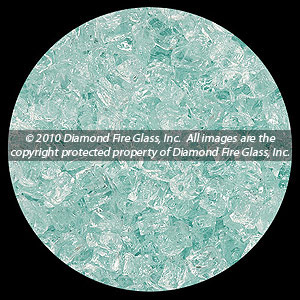 Clear Diamond Fire Pit Glass - 25 LB Nugget Package