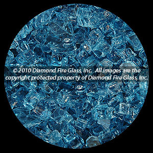 Cobalt Blue Diamond Fire Pit Glass