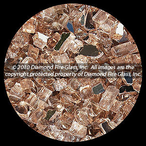 Desert Rose Reflective Diamond Fire Pit Glass - 25 LB Crystal Package