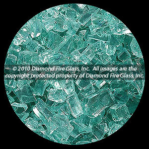 Emerald Green Diamond Fire Pit Glass - 1 LB Crystal Package