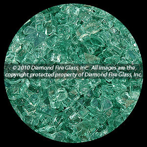 Forest Green 2000 Diamond Fire Pit Glass - 100 LB SuperSack Crystal Package
