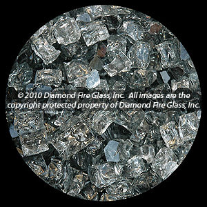 Gray Diamond Fire Pit Glass - 100 LB SuperSack Nugget Package