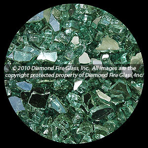 Green Reflective Diamond Fire Glass - 100 LB SuperSack Crystal Package