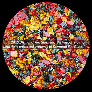 Red Nectar Premixed Diamond Fire Pit Glass