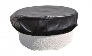 Round Vinyl Fire Pit Cover - 64 Inch