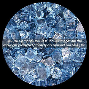 Sapphire Blue Diamond Fire Pit Glass - 60 LB Crystal Package