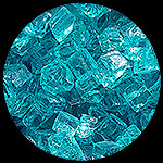 Bahama Blue Diamond Fire Pit Glass - 1 LB Nugget Package