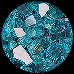 Bahama Blue Reflective Nugget Diamond Fire Pit Glass - 25 LB Nugget