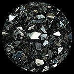 Black Reflective Diamond Fire Pit Glass - 100 LB SuperSack Crystal Package