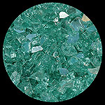 Blue Green Reflective Diamond Fire Pit Glass - 100 LB SuperSack Crystal Package