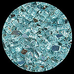 Carribean Teal Reflective Diamond Fire Pit Glass - 1 LB Crystal Package