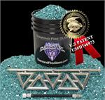 Diamond Series Fireplace Kit with Turquoise Reflective Crystal