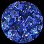Electric Blue Nugget Diamond Fire Pit Glass - 1 LB Nugget