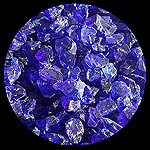 Indigo Diamond Fire Glass - 1 LB Crystal Package