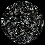 Midnight Black Diamond Fire Pit Glass - 25 LB Crystal Package