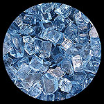 Sapphire Blue Diamond Fire Pit Glass - 1 LB Crystal Package