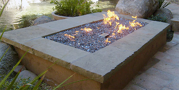 Electronic Ignition Fire Pit Inserts - Diamond Fire Pit Glass - Electronic Ignition Fire Pit Inserts