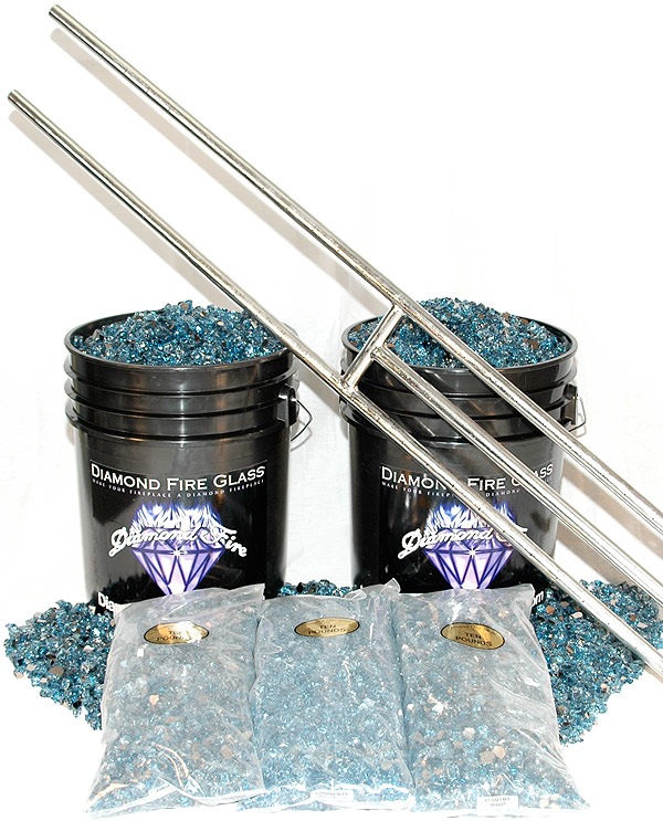 Fireplace Glass Kit With 36 Inch H Burner 150 Lb