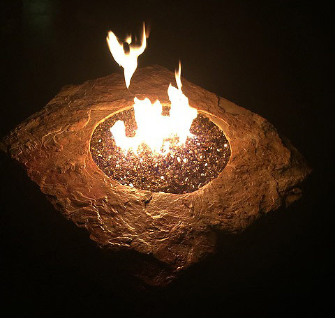 Inch Reflective Fire Glass