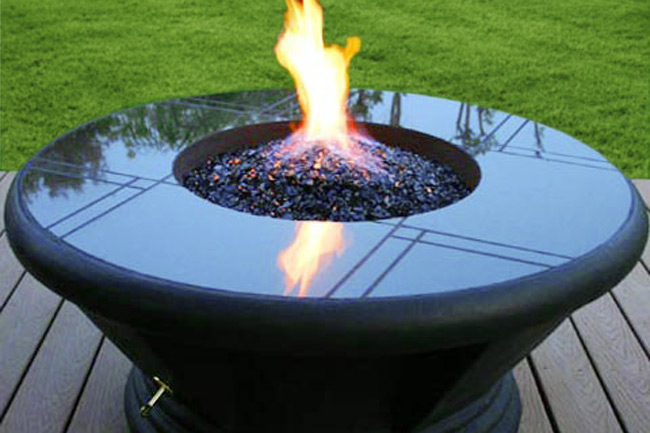 ... Midnight Black Crystal Diamond Fire Pit Glass in outdoor fire pit - Midnight Black Diamond Fire Pit Glass - 1 LB Crystal Package