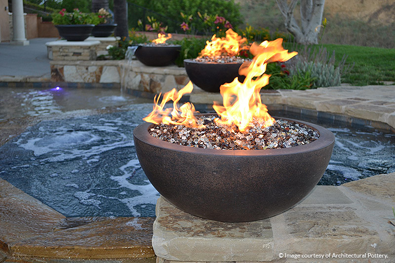 ... Tuscan Reserve Diamond Fire Glass featured in outdoor fire bowls - Tuscan Reserve Diamond Fire Pit Glass - 1 LB Crystal