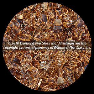 Auburn Diamond Fire Pit Glass - 1 LB Crystal Package