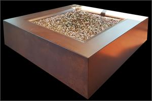 Aura Square Fire Table (Automated System) with Premixed Diamond Fire Glass