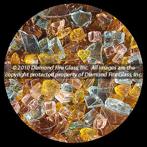 Autumn Premixed Diamond Fire Pit Glass