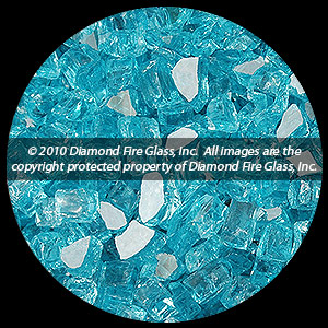 Bahama Blue Reflective Diamond Fire Pit Glass - 1 LB Crystal
