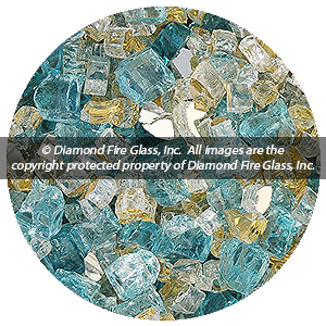 Bel Air Diamond Fire Pit Glass - 60 LB Crystal