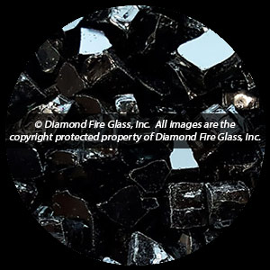 Black Nugget Diamond Fire Pit Glass - 1 LB Nugget
