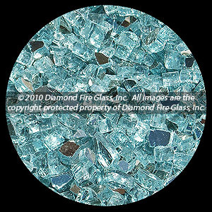 Carribean Teal Reflective Diamond Fire Pit Glass - 25 LB Crystal Package