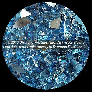Cobalt Dark Blue Reflective Diamond Fire Pit Glass - 25 LB Crystal Package