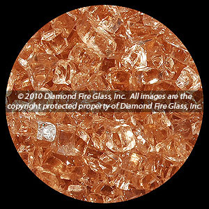 Georgia Peach Diamond Fire Pit Glass - 60 LB Crystal Package