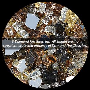 Gold Mine Premxied Diamond Fire Pit Glass