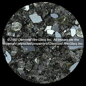 Gray Reflective Diamond Fire Pit Glass - 100 LB SuperSack Crystal Package