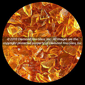Honey (Yellow) Diamond Fire Glass - 100 LB SuperSack Crystal Package