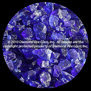 Indigo Diamond Fire Glass - 25 LB Crystal Package